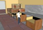 Expositores interior e mesa de consulta
